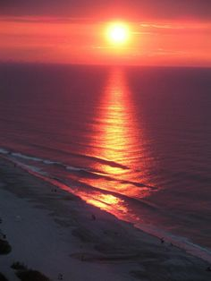 Sunset over Myrtle Beach, SC ♥ ♥ www.paintingyouwithwords.com