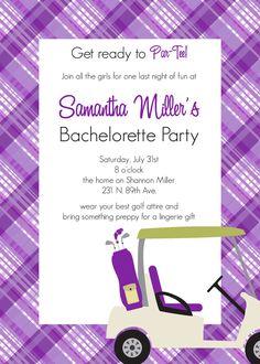 Bachelorette golf party theme