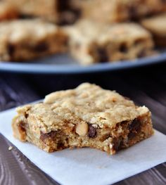 Chocolate Chip Peanut Butter Oatmeal Bars