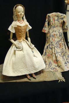 """""""Babes from the Woods"""" by Kathy Patterson: 23 1/2"""" Lady Madeline, A Wooden Queen Anne Doll"""