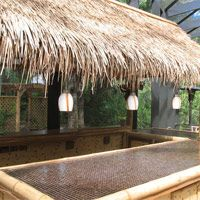 Tiki bar with thatch panel roof....4 X 4 $19.95 each buy atleast 4