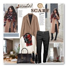 """246. Winter Scraf Style"" by milva-bg ❤ liked on Polyvore featuring Zara, Topshop, Jofit, Carolina Herrera and Première Femme"