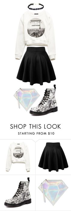 """""""Untitled #61"""" by hien-anhhs on Polyvore featuring Forever 21, Dr. Martens, WithChic, women's clothing, women's fashion, women, female, woman, misses and juniors"""