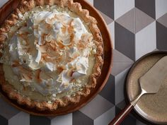 What makes this classic coconut cream pie the best ever? With coconut baked in the crust, loaded into the custard and generously sprinkled on top, it's tropical perfection. Coconut Desserts, Just Desserts, Dessert Recipes, Cake Recipes, Pecan Desserts, Coconut Recipes, Pastry Recipes, Dessert Ideas, Sweet Recipes