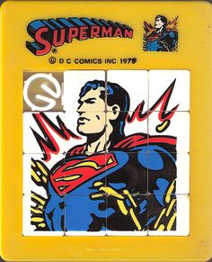 Superman slide tile puzzle by dustincropsboy, via Flickr