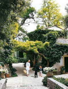 """""""Rustic Outdoor Space"""" in Côte d'Azur, France, photographed by Melanie Acevedo for House & Gardne. via architectural digest design file Rustic Outdoor Spaces, Outdoor Living, Garden Spaces, Dream Garden, Backyard Landscaping, Natural Landscaping, Garden Inspiration, The Great Outdoors, Beautiful Gardens"""