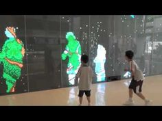 This is the public art project we worked with Otto Li in the new Domain Mall in Yau Tong. The installation uses two Kinect sensors to track pedestrian and ge. Interactive Projection, Interactive Exhibition, Interactive Walls, Interactive Display, Interactive Media, Projection Mapping, Interactive Marketing, Digital Wall, Digital Signage