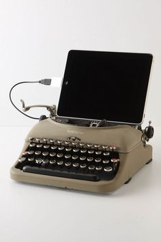 Connect your iPad and type OR unplug your iPad and you still have a functioning typewriter. USB Typewriter - Remington - Cream, $798.00