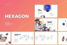 Hexagon-Powerpoint Template by Dublin_Design on @creativemarket