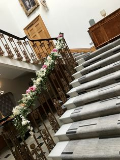 Gorgeous staircase at Haigh Hall dressed with stunning everlasting florals. Civil Ceremony, Bridal Flowers, Floral Wedding, Florals, Floral Design, Beautiful, Decor, Floral, Registry Office Wedding