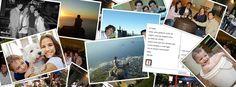 Serviço online que possibilita mandar de qualquer lugar do mundo um cartão postal para amigos e familiares com suas próprias fotos por R$ 2,99.