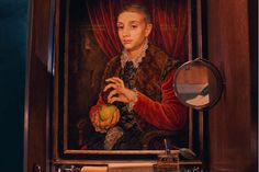 """These Grand Budapest Hotel Photographs Are Simply Delightful #refinery29  http://www.refinery29.com/2013/10/55727/grand-budapest-hotel-trailer-pictures#slide-6  The troublesome """"Boy With Apple"""" painting certainly seems innocent enough. ..."""