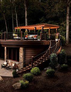 Garden Outdoor Deck Decor Ideas - TopXteriors www.es.topxteriors.com - Ideas de Decoración en Exteriores #Outdoor #Decor #Ideas #Deck #Pergola #Furniture #Patio #Landscaping #PlasticWood #Wood #Pool #CostaRica #Nicaragua #Panama #Guatemala #ElSalvador #Trex #TopXteriors
