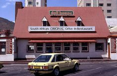 The Doll House Drive-in Restaurant, Mouille Point, Cape Town 1974 Johannesburg City, American Burgers, Cape Town South Africa, Beach Road, House Restaurant, Come And Go, African Beauty, The Originals, African Life