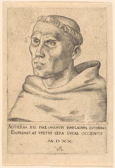 Martin Luther as a Monk, 1520  Lucas Cranach the Elder (German, 1472–1553)  Engraving