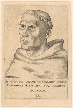 Lucas Cranach the Elder, Martin Luther as a Monk, 1520