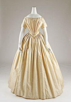 Wedding dress Date: ca. 1844 Culture: French (probably) Medium: silk, cotton