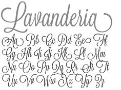 Lavanderia font: this is what we used on our save the dates!