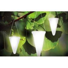 Hanging solar lights.