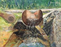 Stream of Life (in Tatra Mountains) by PanuszkaPaintings on Etsy