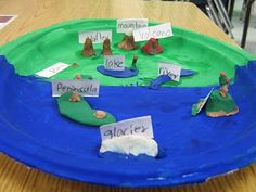 Artistic Landforms Paper Plate Project