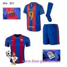 la liga: Maillots FC Barcelone Rouge/Bleu Enfant Kits (SUAREZ 9) Domicile 2016…