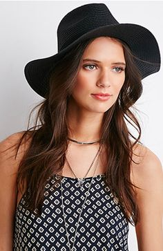 This Contrast Brim Straw Fedora Hat ($12.90, forever21.com) is the perfect mix of the boho feel of a wide brim yet the sophistication of a fedora. http://thestir.cafemom.com/beauty_style/186093/12_summer_hats_perfect_for