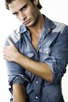 #Mens #Blue Jean Shirt - The worn in the better