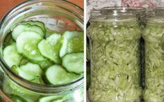Okurkový salát do sklenic bez vaření nálevu, který vydrží celý rok recept – iRecept Preserves, Pickles, Cucumber, Cooking, Desserts, Recipes, Garden, Fitness, Syrup