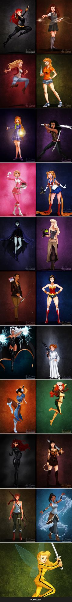 See Disney characters dressed in Halloween costumes