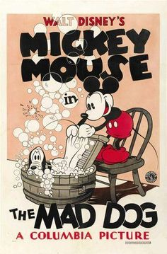 Vintage Walt Disney Mickey Mouse The Mad Dog Poster Cartoon Classic Walt Disney Mickey Mouse, Mickey Mouse Vintage, Disney Vintage, Mickey Mouse E Amigos, Disney Micky Maus, Deco Disney, Old Disney, Mickey Mouse And Friends, Disney Art