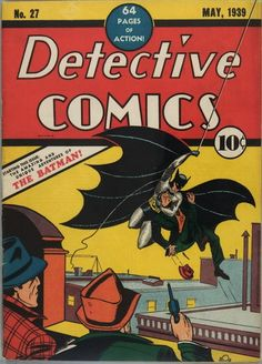 Detective Comics #27  February 10th, 2010  This issue of Detective Comics features the first appearance of Batman. It's currently at auction and has already beat all records for a comic book reaching $418,250.00 and still going….