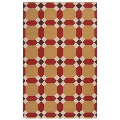 Handmade wool flatweave rug with a geometric motif.    Product: RugConstruction Material: 100% WoolCo...