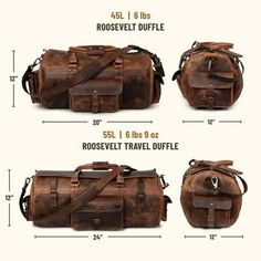 The Roosevelt Vintage Leather Duffle is the small duffle bag you've always wanted. Made of water buffalo hide, it's just how Roosevelt would have wanted it. Mens Travel Bag, Duffle Bag Travel, Duffel Bag, Travel Bags, Leather Duffle Bag, Leather Bags, Canvas Leather, Leather Men, Baby Boy Shower