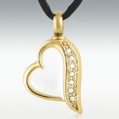 Trail To My Heart Gold Stainless Steel Cremation Jewelry