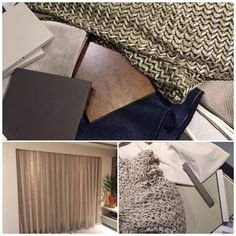 """Dica Decor - Usar tecidos que parecem crochê para cortinas e mantas está em alta. Como por exemplo fazer um compose de veludo e linho. É tendência a mistura de diversos tipos de materiais e cores. O mais importante é fazer a composição correta para não """"pesar"""" e errar no decor. Essas composições foram feitas com os tecidos da artefacto e a cortina é da Marengo Cortinas."""