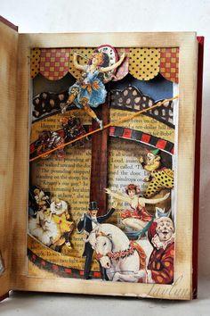 Inside Mayhem Altered Book Graphic 45 - Scrapbook.com.......I've got to make this !!!