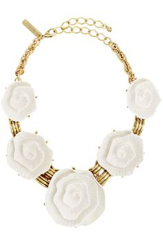 oscar de la Renta necklace | Blanca Rose Necklace by Oscar de la Renta at $90 | Rent The Runway