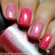 Sweet Southern Haze: Colors By Llarowe Spring Frenzy 2014: Holo Comparison! Lucy im home vs. runt