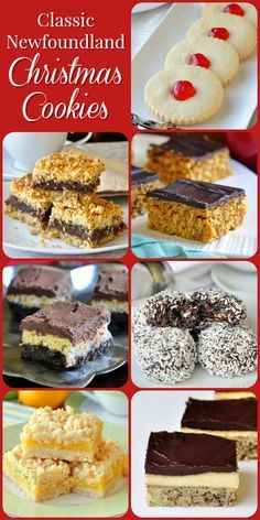 Some all time favorites! A simple collection of some of the most popular cookie recipes from my childhood Christmases in Newfoundland. Holiday Cookies, Holiday Treats, Holiday Recipes, Christmas Recipes, Cookie Desserts, Cookie Recipes, Dessert Recipes, Christmas Cooking, Christmas Desserts