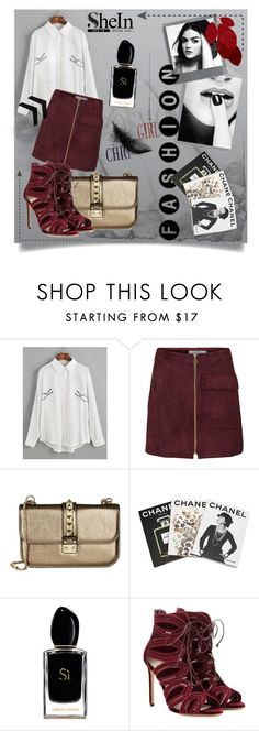 """""""look at me"""" by franceee ❤ liked on Polyvore featuring Valentino, Assouline Publishing, Polaroid, Giorgio Armani and Francesco Russo"""