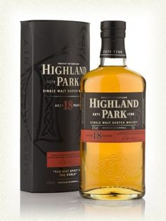 Highland Park 18 Bottling Note A superb 18 year old from the Highland Park distillery and a winner of a Gold Medal at the 2005 San Francisco World Spirits Competition. (67.69)