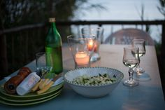 Setting the table for dinner tonight overlooking the sea. Lemon salad with lemons and mint from the garden, local wine and good company. #procida #italy  Photo by Renée Comet: http://www.cometphoto.com  #foodphotography #foodphotographer #advertisingphotographer