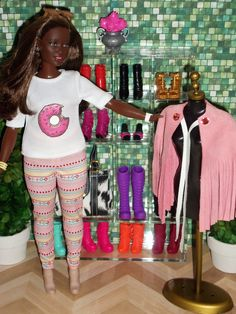 Barbie Evolution // AA Curvy Black Barbie // OOAK style by Aneka
