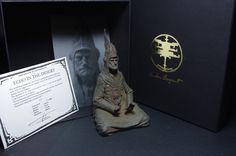 """""""Echo in the Desert"""" is a signed and numbered limited edition of resin casts. The sculpture is an homage of one of the greatest illustrator and drawer of our era, Jean Giraud alias Moebius. This figure is designed, sculpted and patinated by Romain Van den Bogaert in his studio. The edition size is limited to 100 copies and will never be recasted. The certificate of authenticity is """"letter press"""" printed by """"Sacrés Caractères Studio"""" on a Fedrigoni 350 gsm paper, embellished with a…"""