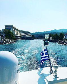 Celebrating Greek #IndependenceDay! 📸 @skier_555  #march25 #Greece #hellas  #PortoCarrasGrandResort #PortoCarras #PortoCarrasExperience #Sithonia #Halkidiki #Tourism #Travel #Sea #Blue #Sky #EndlessBlue #sailing Independence Day, Marina Bay Sands, Sailing, Greece, Tourism, Sky, Blue, Travel, Porto