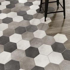 1000 images about hexagon tegels on pinterest hexagons hexagon tiles and tile - Grijze wand taupe ...