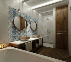 Venkovská koupelna | AŤÁK DESIGN Mirror, Bathroom, Furniture, Design, Home Decor, Washroom, Decoration Home, Room Decor, Mirrors