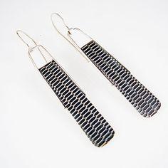 Sterling Silver Modern Flutter Earrings by creativedexterity on Etsy, $80.00