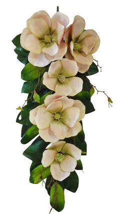 30 Magnolia Teardrop Pink by ArtisanFloralDecor on Etsy